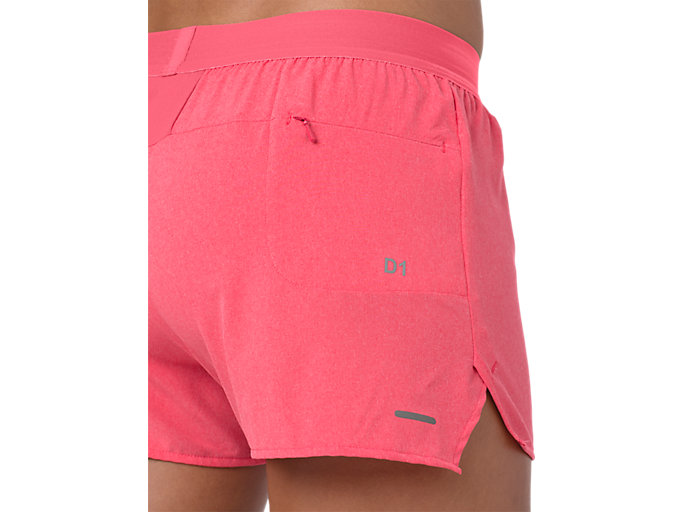 Alternative image view of 3.5IN SHORT WOVEN, PIXEL PINK HEATHER