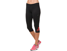 ICON KNEE TIGHT, PERFORMANCE BLACK/FLASH CORAL