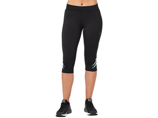 ICON KNEE TIGHT, PERFORMANCE BLACK / OPAL GREEN