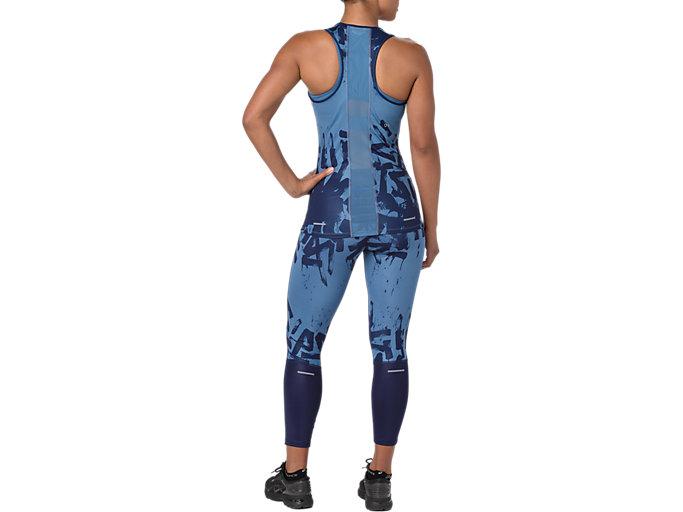 Alternative image view of Mallas de entrenamiento hasta el tobillo para mujer, AZURE/PEACOAT