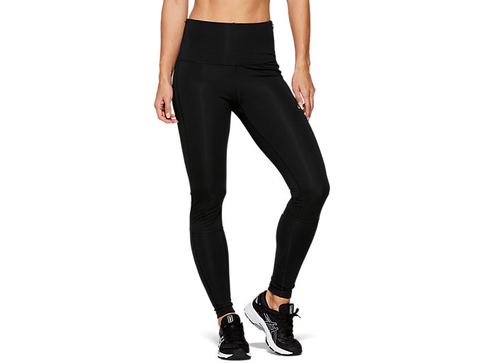 Front Top view of HIGH WAIST TIGHT, PERFORMANCE BLACK
