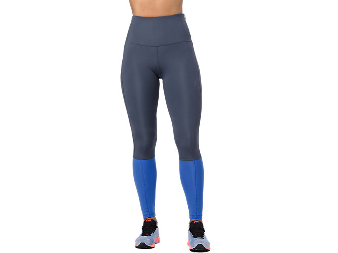 Front Top view of HIGH WAIST TIGHT, TARMAC/ILLUSION BLUE
