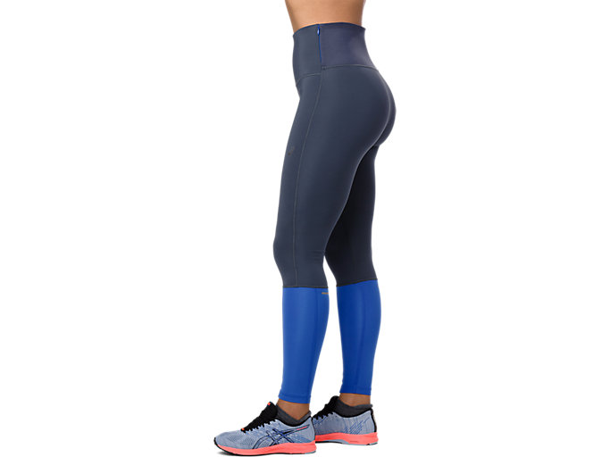 Side view of HIGH WAIST TIGHT, TARMAC/ILLUSION BLUE