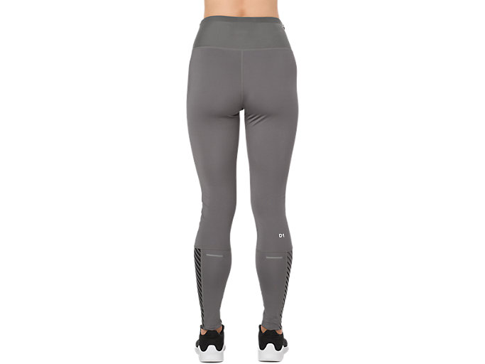 Back view of HIGH WAIST TIGHT, CARBON / LINEAR CARBON