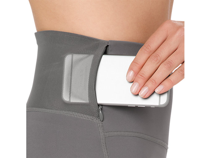 Alternative image view of HIGH WAIST TIGHT, CARBON / LINEAR CARBON