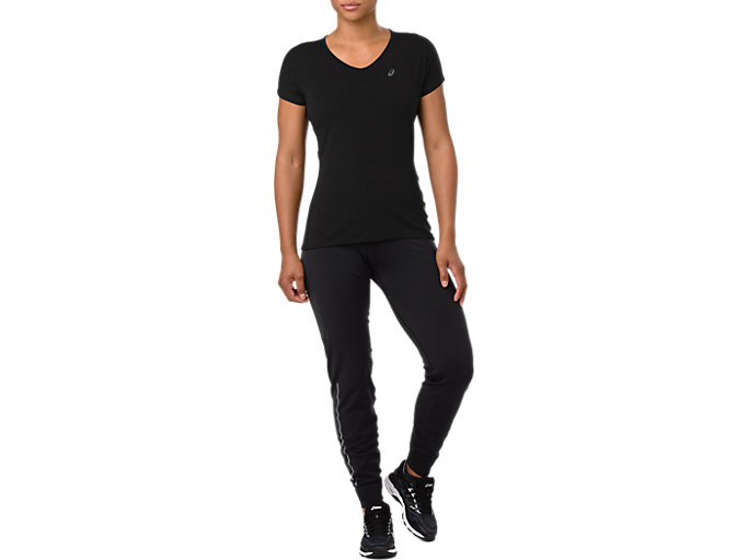 Front Top view of KNIT PANT, PERFORMANCE BLACK