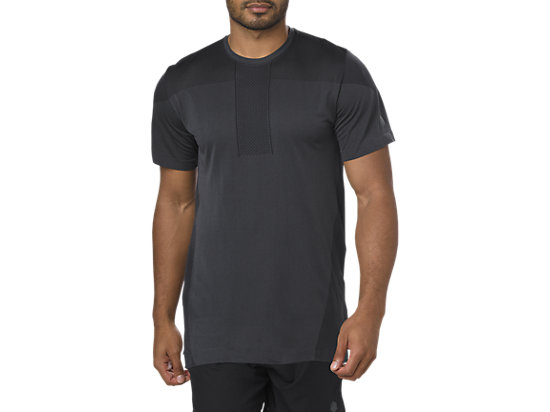 GEL-COOL SEAMLESS SS TOP, DARK GREY