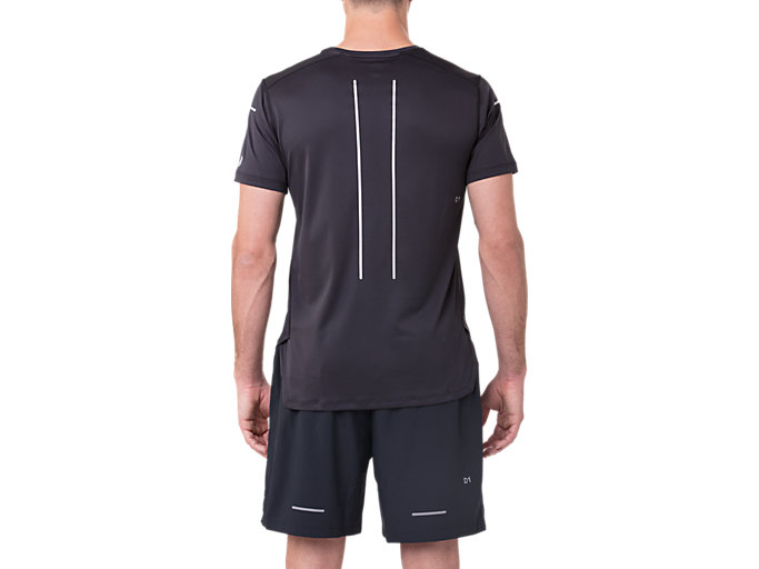 Back view of LITE-SHOW SS TOP, PERFORMANCE BLACK