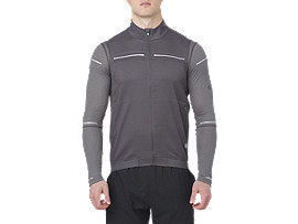 Front Top view of LITE-SHOW VEST, DARK GREY