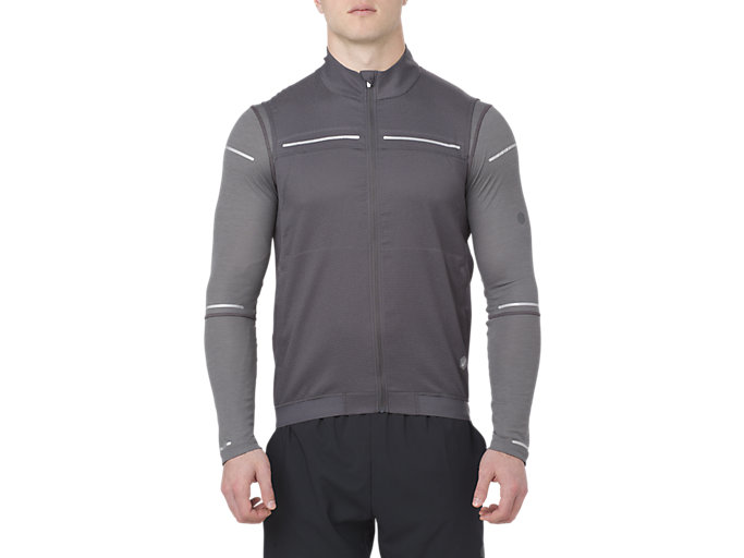 Front Top view of LITE-SHOW JACKE, DARK GREY