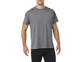 ICON SS TOP, DARK GREY HEATHER