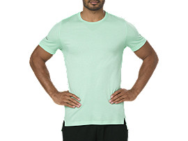 SEAMLESS SS, OPAL GREEN HEATHER