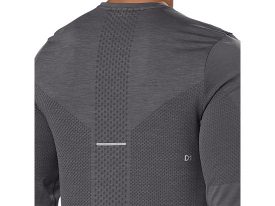 SEAMLESS LS DARK GREY HEATHER