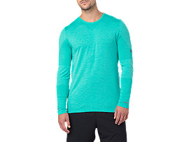 SEAMLESS LS, Lake Blue Heather
