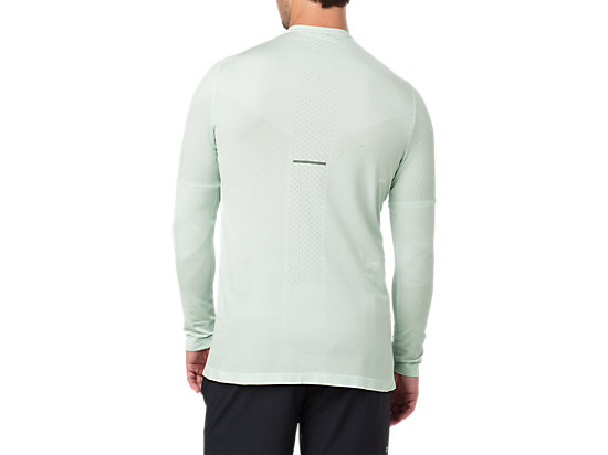 SEAMLESS LS SPROUT GREEN HEATHER