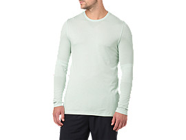 SEAMLESS LS, Sprout Green Heather