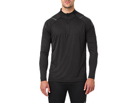 ICON LS 1/2 ZIP, PERFORMANCE BLACK