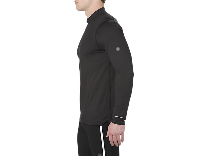 Alternative image view of LS 1/2 ZIP JERSEY, PERFORMANCE BLACK