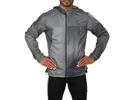 CHAQUETA PLEGABLE, LINEAR DARK GREY