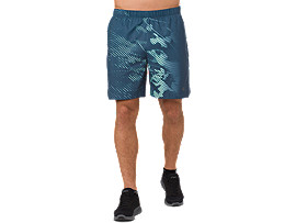 "7"" SHORTS MIT PRINT, SHADOW DARK BLUE"