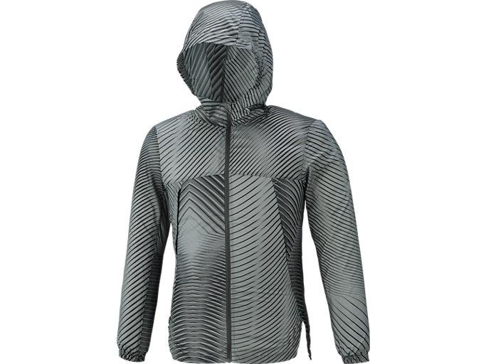 ランニングパッカブルジャケット, リニアダークグレー