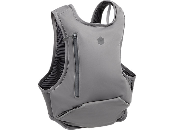 Back view of RUNNING BACKPACK, CARBON