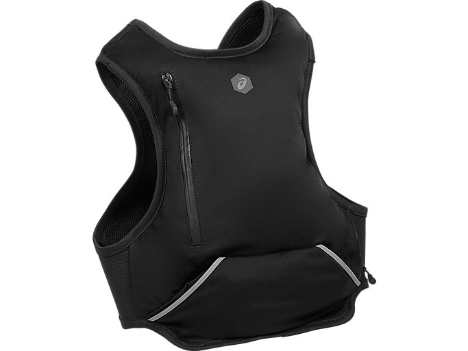 Back view of RUNNING BACKPACK, PERFORMANCE BLACK