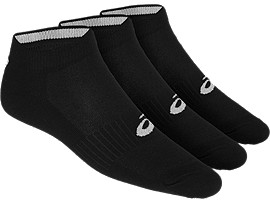 Front Top view of 3PPK PED SOCK, BLACK