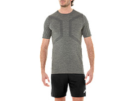 Alternative image view of SEAMLESS SS TOP, DARK GREY