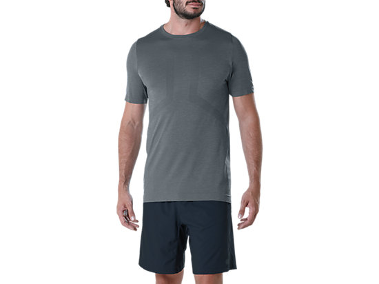 SEAMLESS SS TOP, CARBON