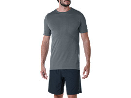 Alternative image view of SEAMLESS SS TOP, CARBON