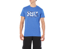 SPORT TRAINING CLUB TEE, AIRFORCE BLUE HEATHER