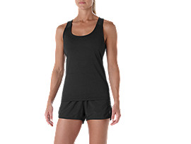 Fitted Trainingstanktop für Damen, PERFORMANCE BLACK