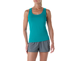 Fitted Trainingstanktop für Damen, LAKE BLUE