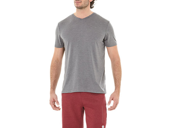ESNT SS TOP HEX, DARK GREY HEATHER