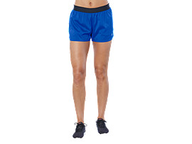 Front Top view of PERFORMANCE SHORT, ILLUSION BLUE/PEACOAT