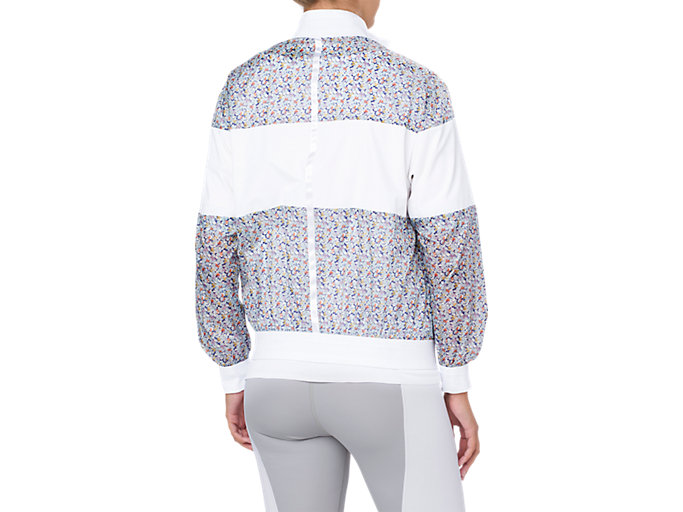 Back view of LP PRINT WIND JACKET, BRILLIANT WHITE