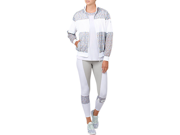 Alternative image view of LP PRINT WIND JACKET, BRILLIANT WHITE