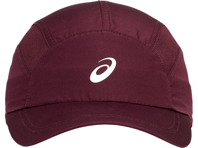 Front Top view of SPORT RUNNING CAP, deep mars