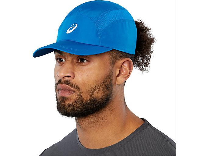 SPORT RUNNING CAP, RACE BLUE