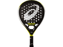 Front Top view of CONTROL PADEL RACKET HARD, GREEN RAQUET