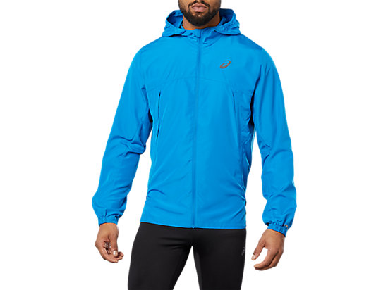 RUN HOOD JACKET, RACE BLUE