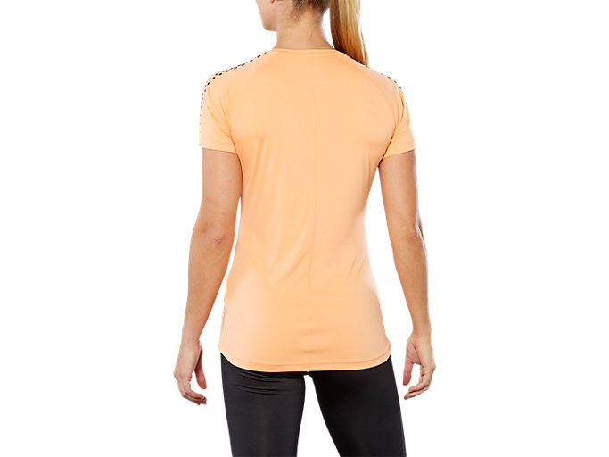 Back view of SPORT STRIPE SS TOP, MOJAVE