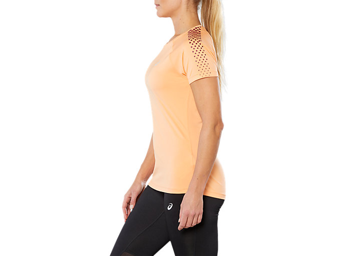 Side view of SPORT STRIPE SS TOP, MOJAVE