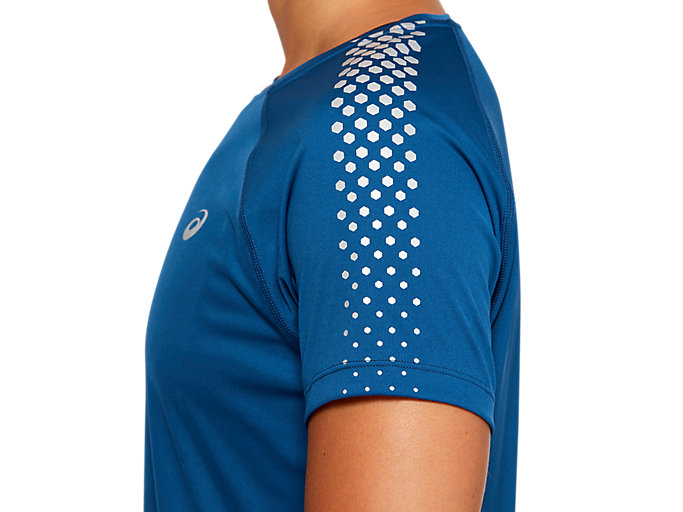 Alternative image view of SPORT STRIPE SS TOP, MAKO BLUE