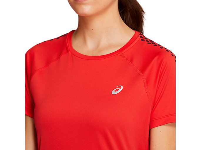Alternative image view of STRIPE SS TOP, RED ALERT