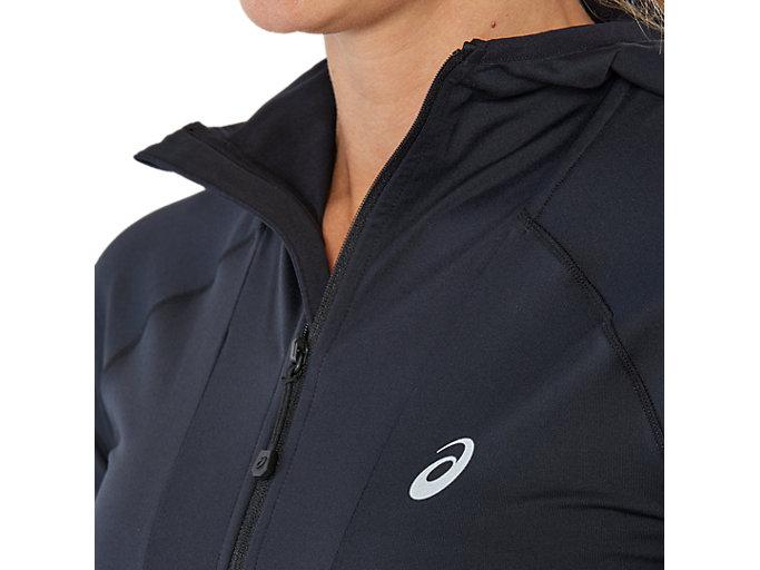 Alternative image view of Hardloophoodie met lange mouwen voor dames, PERFORMANCE BLACK