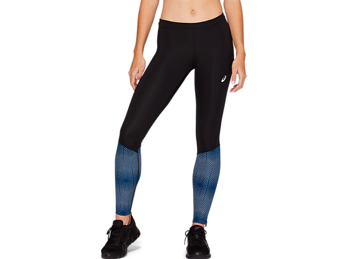 Front Top view of RACE TIGHT, PERFORMANCE BLACK/MAKO BLUE