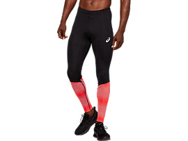Front Top view of RACE TIGHT, PERFORMANCE BLACK/RED ALERT/SILVER