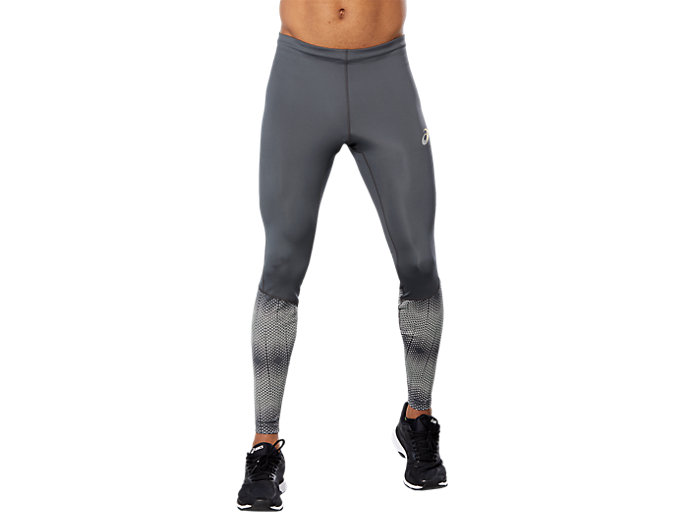 Front Top view of RACE TIGHT, DARK GREY